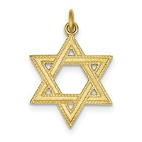 24k Gold-plated Sterling Silver Star of David Pendant QC5935