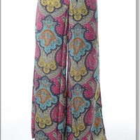 Multi-colored Paisley Print Pant | Apricot Lane Boutique