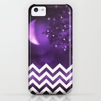 PURPLE MOON  CHEVRON GLITTER iPhone & iPod Case by MS for iphone 5c +5s +5 +4s +4 +3gs +3g +ipod touch #SAMUNGSUNG GALAXY
