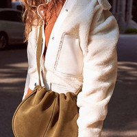 Callie Suede Drawstring Saddle Bag | Urban Outfitters