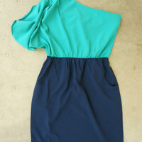 Billowing Jade Party Dress [2797] - $36.00 : Vintage Inspired Clothing & Affordable Fall Frocks, deloom | Modern. Vintage. Crafted.