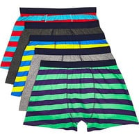 River Island MensMixed stripe boxer shorts pack