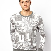 River Island | River Island Sweat with All Over NYC Print at ASOS