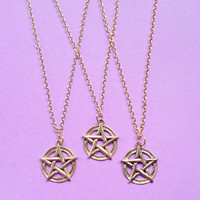 Gold Pentacle necklace