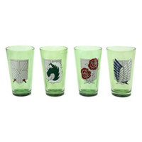 Attack On Titan Badges Pint Glass Set
