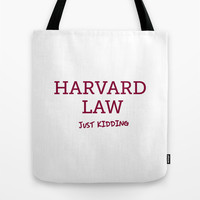 Harvard Law Tote Bag by Trend | Society6