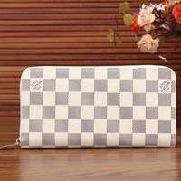 LV Women Shopping Leather Print Wallet Purse White I-LLBPFSH Tagre™