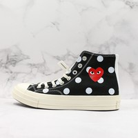 CDG Play x Converse All Star Chuck Taylor 1970s Black Hi-Top Sneakers - Best Deal Online