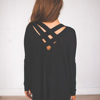 Cross Back Tunic- Black