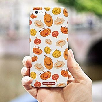 Inspired Cases 3D Textured Jack O Lantern Halloween Pattern Case for iPhone 6
