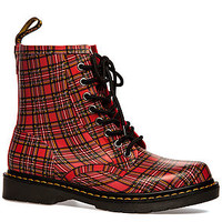 The Drench 8-Eye Boot in Red Plaid