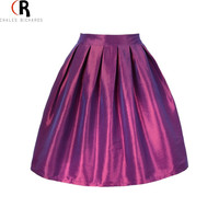High Waist Pleats Mini A Line Skater Casual Skirt 7 Colors One Size Spring Summer  Women Fashion