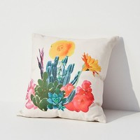 Ted Feighan For UO Cactus Bloom Throw Pillow | Urban Outfitters