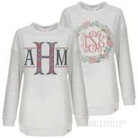 Monogrammed Terry Pullover | Marleylilly