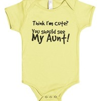 You should see my aunt!-Unisex Lemon Baby Onesuit 00