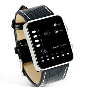 "Black LED Watch ""Singularity"""
