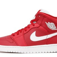 AIR JORDAN 1 MID - GYM RED / WHITE