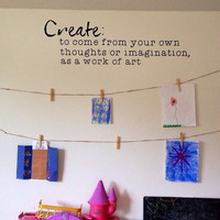 Create. Kids Art Wall Vinyl Decal.