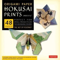 Origami Paper Hokusai Prints - Large 8 1/4: Perfect for Small Projects or the Beginning Folder