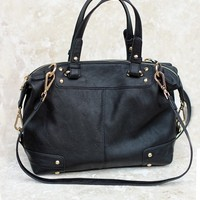 Structured Black Daybag-Marney Satchel-$90.00 | Hand In Pocket Boutique