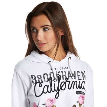 Brookhaven Floral Crop Hoody | JD Sports