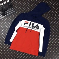 FILA Woman Men Casual Fashion Hoodie Top Sweater Pullover-1