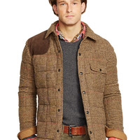 Glen Plaid Down Shirt Jacket