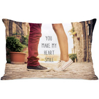 """""""You Make My Heart Smile"""" Indoor Throw Pillow by OneBellaCasa, 14""""x20"""""""