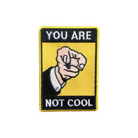 You are not cool Patch Punk patches Slogan monogram Sew on patch iron on patch