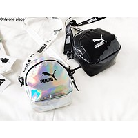 NIKE x PUMA x ADIDAS reflective printed shoulder bag hot seller women's casual small shopping bag