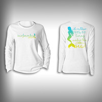 Mermaid Rather Live Under the Sea - Womens Performance Shirt - Fishing Shirt