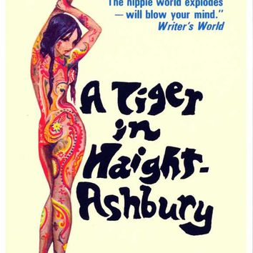 A Tiger in Haight-Ashbury 11x17 Retro Book Cover Poster