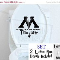Harry Potter Inspired This Way To The Ministry of Magic and Lumos Nox Decal Set - by Shop Simply Perfect