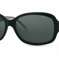 Kate Spade - Annika S Black Silver Sparkle Sunglasses / Gray Polarized Lenses