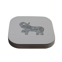 "Belinda Gillies ""Elephant"" Coasters (Set of 4)"