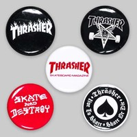 Thrasher Magazine Shop - Buttons (5 Pack)