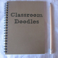 Classroom Doodles 5 x 7 journal by JournalingJane on Etsy