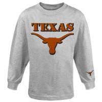 Texas Longhorns Youth Logo Stamp Long Sleeve T-Shirt - Ash
