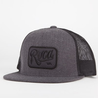 Rvca Overtime Mens Trucker Hat Charcoal One Size For Men 20633411001