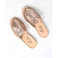 Sbicca - Baines Huarache Women's Flat Sandal in Rose Gold