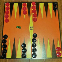 "Vintage 1980s John Sands ""Backgammon"" Board Game / Retro Family Friendly Version / Learn to Play Backgammon"