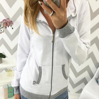Causal  Long Sleeve Hoodie Sweater B0013819