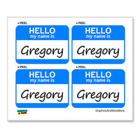 Gregory Hello My Name Is - Sheet of 4 Stickers
