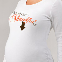 thanksgiving maternity shirt-adorable Maternity longsleeve shirt in time for thanksgiving