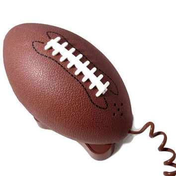 Vintage Football Phone - Rare Sports Illustrated Push Button Clamshell Corded Phone, Retro Novelty Sports Telephone