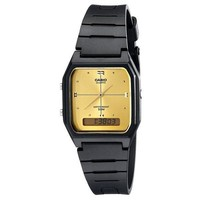 Casio All-Black and Gold Tone Face Watch