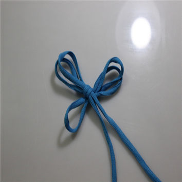 New Blue Oval Shoelaces