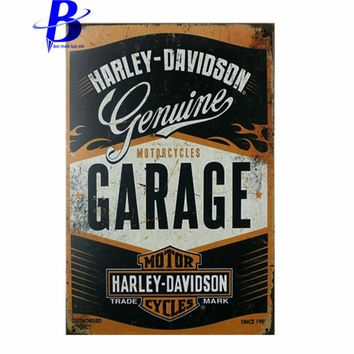 Metal Sign Beer MOTORCYCLES GARAGE Vintage Tin Signs Retro Metal Plate Painting Wall Decoration Decorative Metal Plate Store