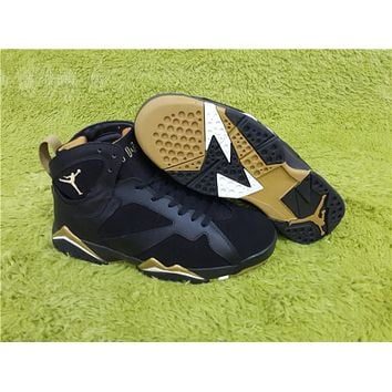 Air Jordan 7 black gold Basketball Shoes 36-40