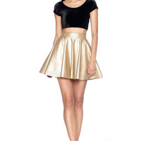 Royalty Gold Cheerleader Skirt - LIMITED
